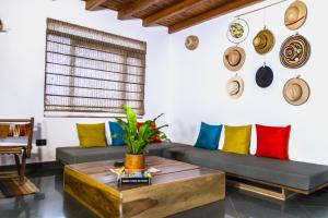 Coin salon dans l'établissement Nibiru Hostel
