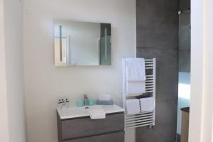Ein Badezimmer in der Unterkunft B&B de Getijden