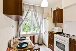 Кухня или мини-кухня в Apartment Tsaritsyno