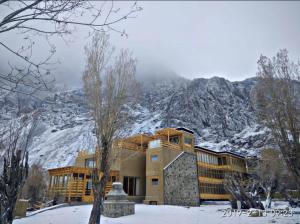 Stone Hedge Hotel during the winter