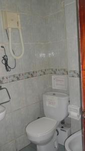 A bathroom at Hostal Suárez
