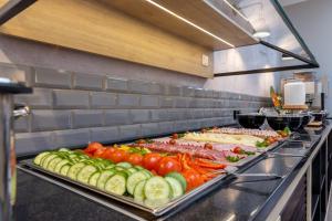 A kitchen or kitchenette at Boutique Essen City