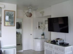 A television and/or entertainment center at Oceanview Apartment 13c