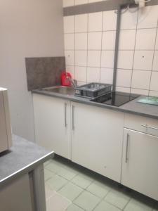 Cuisine ou kitchenette dans l'établissement Aux 3 Arcades