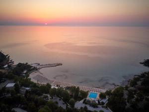 Άποψη από ψηλά του Makryammos Bungalows