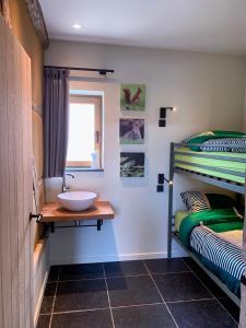 Een badkamer bij De Bonderbei