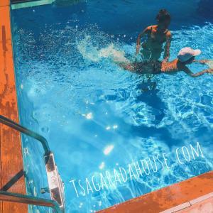 The swimming pool at or close to Tsagarada House