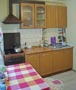 Кухня или мини-кухня в Apartament on Podgornaya 5