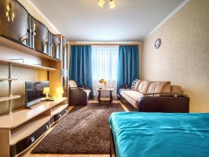 Гостиная зона в KvartalApartments. Belozerskaya 3
