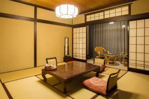A seating area at Higashiishikawa Ryokan