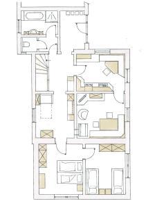 Grundriss der Unterkunft Apartment Anny