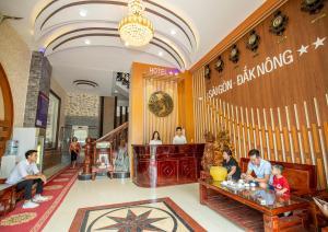 The lobby or reception area at Sai Gon Dak Nong Hotel