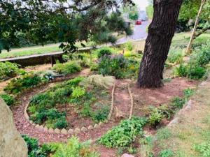 A garden outside FSC Slapton Ley Hostel