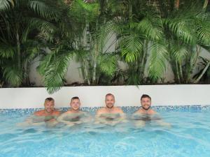 The swimming pool at or near Hostal Casa Escallon