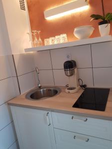 Küche/Küchenzeile in der Unterkunft Buerpartment
