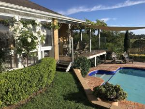 The swimming pool at or near Marrowbone Vineyard Estate - one of the Hunters finest estates
