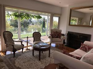 A seating area at Marrowbone Vineyard Estate - one of the Hunters finest estates