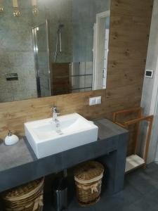 A bathroom at Apartament Roztocze