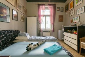 Mini home hostel Jb 객실 침대