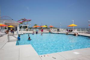 The swimming pool at or near Cedar Point Hotel Breakers
