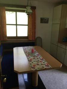 Ein Bett oder Betten in einem Zimmer der Unterkunft Ferienhaus Ruggenthaler