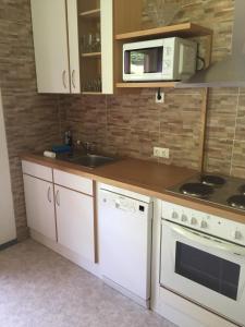 Küche/Küchenzeile in der Unterkunft Ferienhaus Ruggenthaler