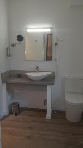 Salle de bains dans l'établissement Hôtel Alphée