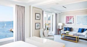 Zona de estar de Boston Harbor Hotel