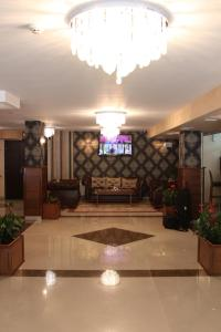 The lobby or reception area at Hotel Park Bachinovo