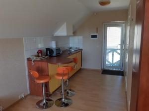 Virtuvė arba virtuvėlė apgyvendinimo įstaigoje Gaspada