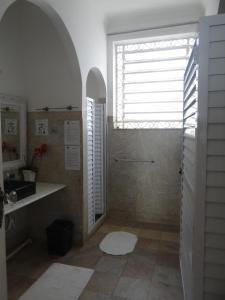 A bathroom at Hostel Casarão 65
