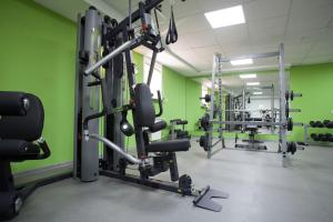The fitness centre and/or fitness facilities at Abnicum Business Hotel