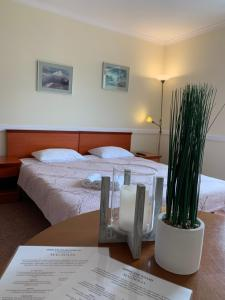 Łóżko lub łóżka w pokoju w obiekcie Apartamenty i Pokoje Magnolia