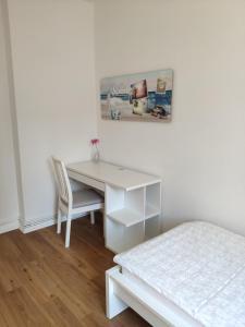 Postel nebo postele na pokoji v ubytování Wohnung in Hannover Zentrum