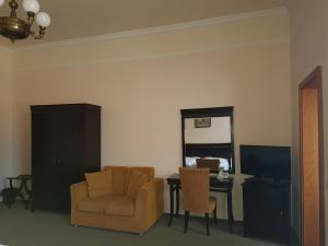 TV a/nebo společenská místnost v ubytování Hotel U Zeleneho stromu