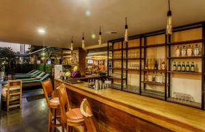 A restaurant or other place to eat at Horison Seminyak Bali