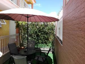 A balcony or terrace at Otroiza Hotel