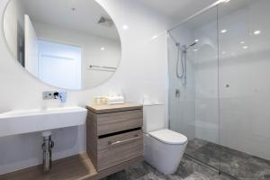 A bathroom at Qube Broadbeach