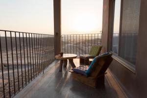 A balcony or terrace at Nof Zuqim