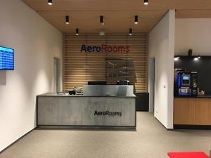 The lobby or reception area at AeroRooms