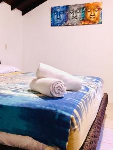 A bed or beds in a room at Casa del Sol