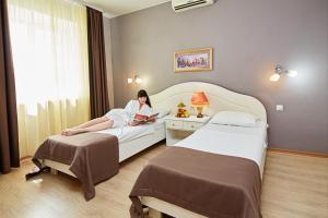 Кровать или кровати в номере Гостиница Анзас