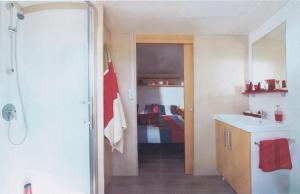 A kitchen or kitchenette at Camping de l'Abbatiale