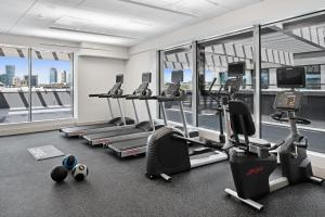 The fitness center and/or fitness facilities at Hilton Garden Inn Vilnius City Centre