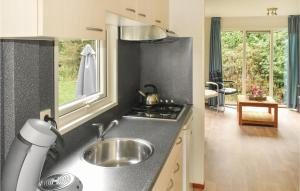 A kitchen or kitchenette at Two-Bedroom Holiday Home in Woerdense Verlaat