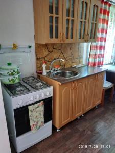 Кухня или мини-кухня в Domik v Derevne