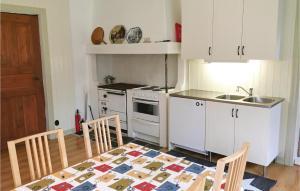 Ett kök eller pentry på Six-Bedroom Holiday Home in Hogsater