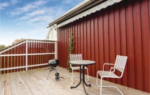 En balkong eller terrass på Studio Holiday Home in Larv