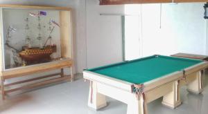 A billiards table at Punta Cherrepe