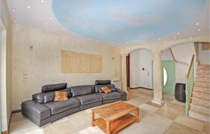 A seating area at Holiday Home Saint Raphael with Hot Tub I
